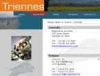 Domaine Triennes website screenshot