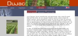 Domaine Dujac website screenshot